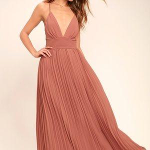 Depths of my love rusty rose maxi dress